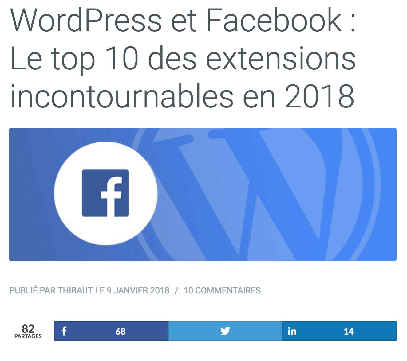 WordPress et Facebook WP Marmite